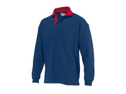 Polo sweater met rode kraag